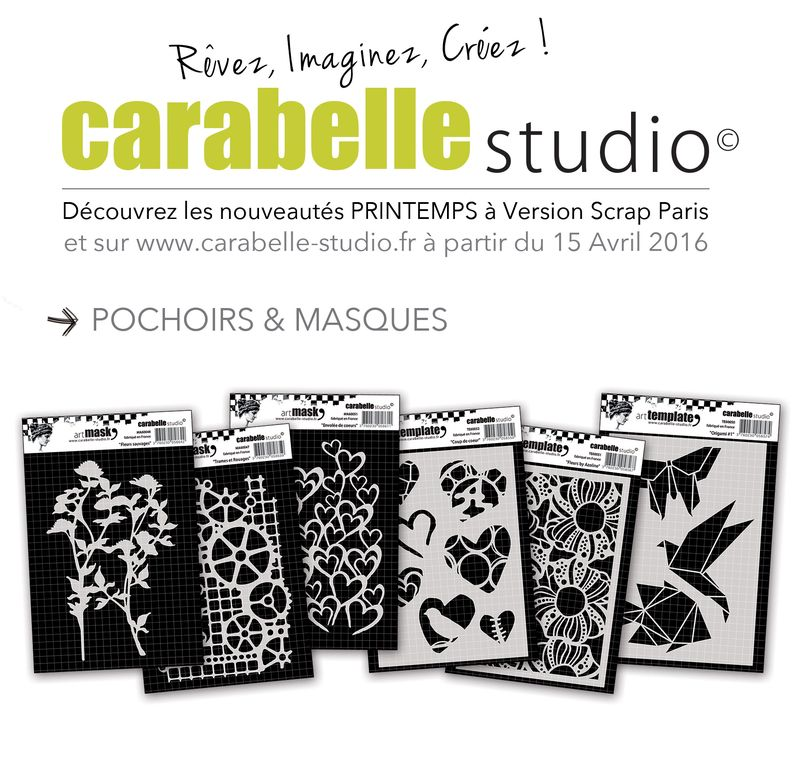 masques et pochoirs Carabelle Studio VS 2016